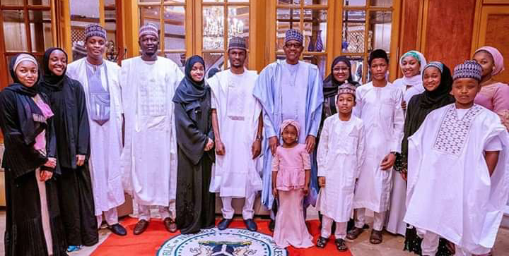 President Buhari observes Eid-Kabir prayers with his family and aides in Abuja